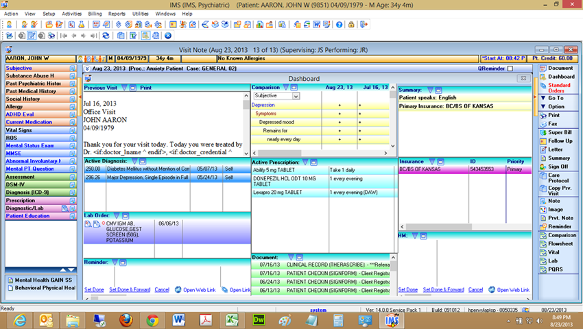 Psychiatry Electronic Health Record Software 1st